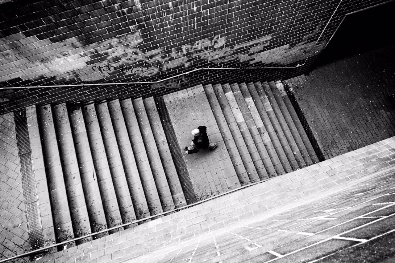 le scale stazione rebibbia metro B