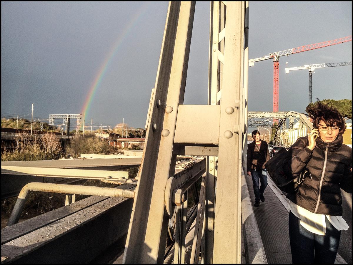 foto ponte di ferro ostiense roma street photo di roma
