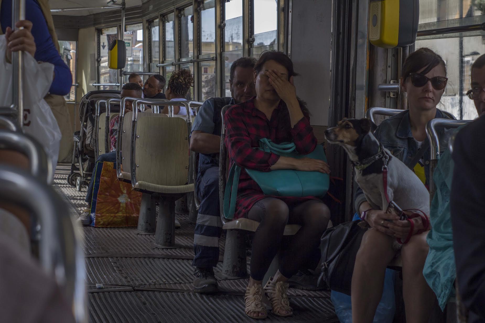Fotografia di strada Roma - tram 14 tra piazzale prenestino e largo preneste