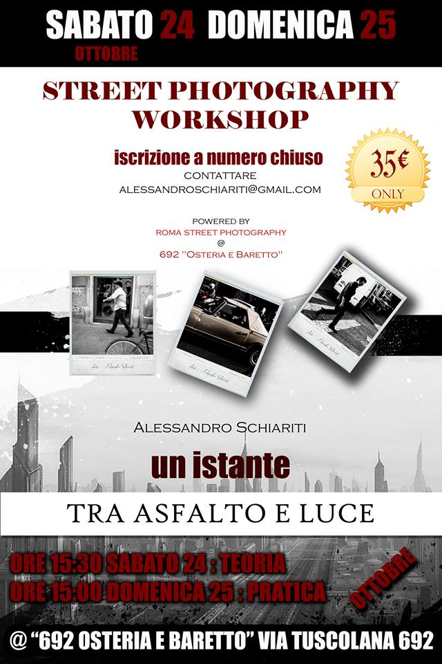 locandina Workshop Roma Street Photography