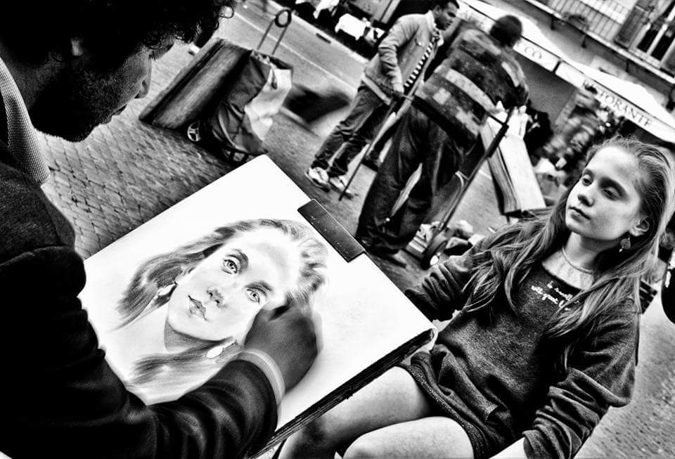 Ritratti in Piazza Navona - © Maria Cingari